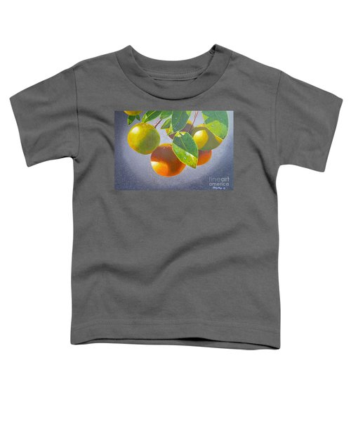 Oranges Toddler T-Shirt by Carey Chen