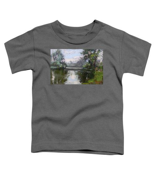 Outdoors At Hyde Park Toddler T-Shirt by Ylli Haruni