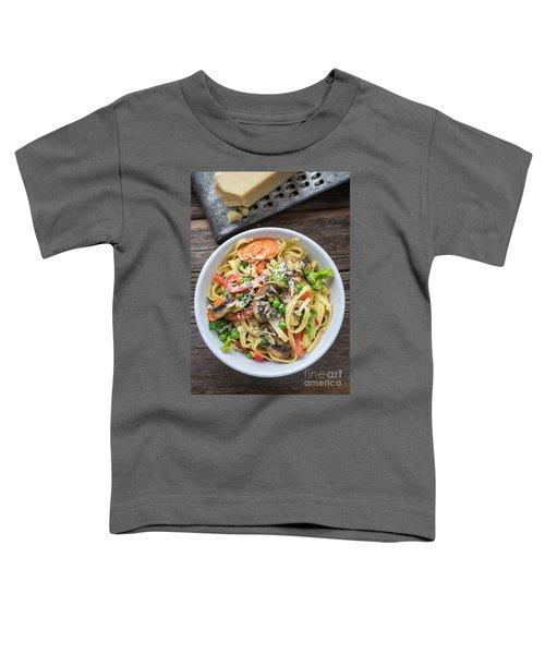 Pasta Primavera Dish Toddler T-Shirt by Edward Fielding