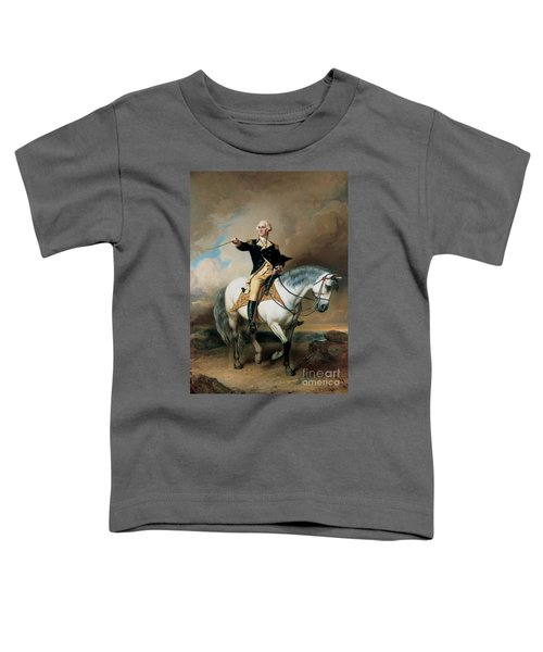 Portrait Of George Washington Taking The Salute At Trenton Toddler T-Shirt by John Faed