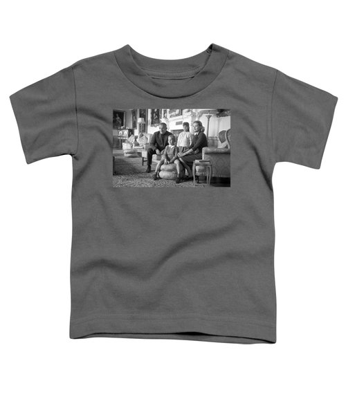 Princess Grace Of Monaco And Family In Ireland Toddler T-Shirt by Irish Photo Archive