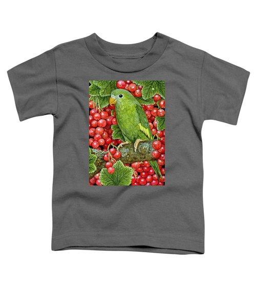 Redcurrant Parakeet Toddler T-Shirt by Ditz