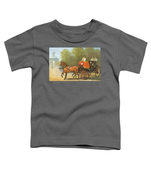 Returning From Her Majestys Drawing Room Toddler T-Shirt by Alfred Corbould