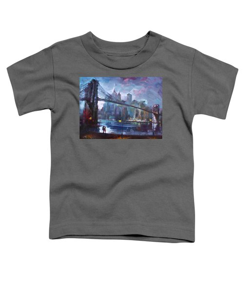 Romance By East River II Toddler T-Shirt by Ylli Haruni