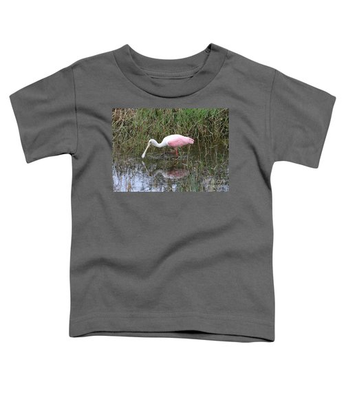 Roseate Spoonbill Reflection Toddler T-Shirt by Carol Groenen
