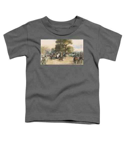 Scene In Hyde Park Toddler T-Shirt by Eugene-Louis Lami