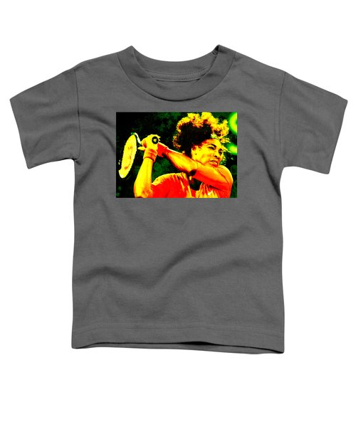 Serena Williams In A Zone Toddler T-Shirt by Brian Reaves