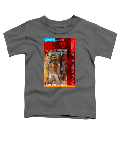 Shakira Art Poster Toddler T-Shirt by Corporate Art Task Force