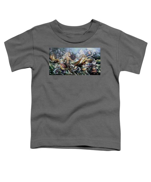 Something Fowl Afloat Redux Toddler T-Shirt by Patrick Anthony Pierson