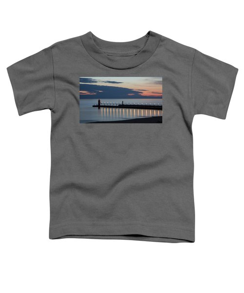 South Haven Michigan Lighthouse Toddler T-Shirt by Adam Romanowicz