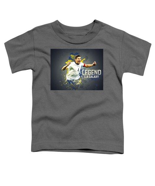 Steven Gerrard Toddler T-Shirt by Taylan Soyturk