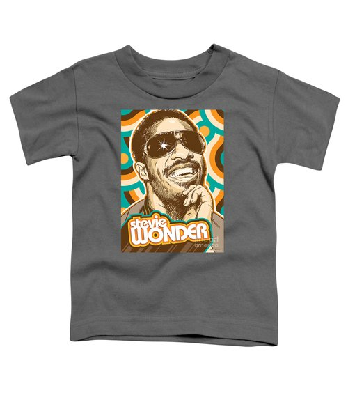Stevie Wonder Pop Art Toddler T-Shirt by Jim Zahniser