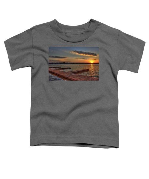 Sunset Docks On Lake Oconee Toddler T-Shirt by Reid Callaway