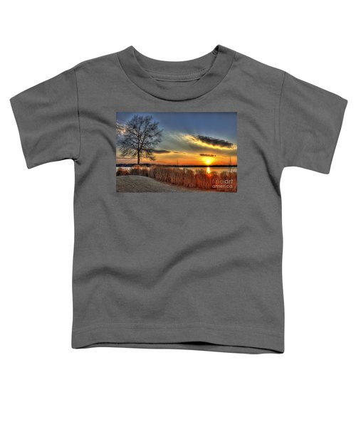 Sunset Sawgrass On Lake Oconee Toddler T-Shirt by Reid Callaway