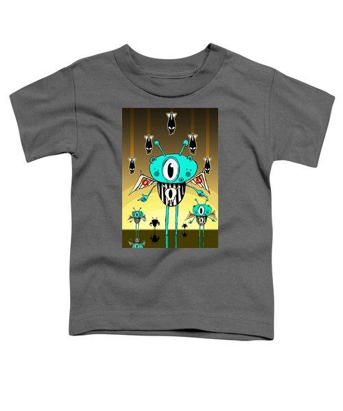 Team Alien Toddler T-Shirt by Johan Lilja