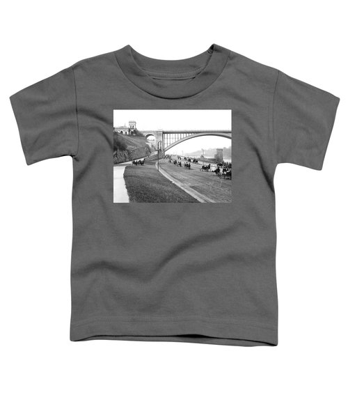 The Harlem River Speedway Toddler T-Shirt by Detroit Publishing Company