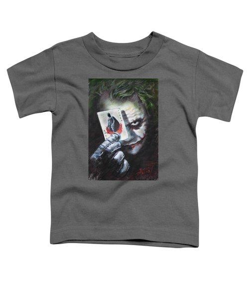 The Joker Heath Ledger  Toddler T-Shirt by Viola El