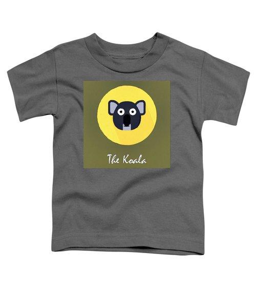 The Koala Cute Portrait Toddler T-Shirt by Florian Rodarte