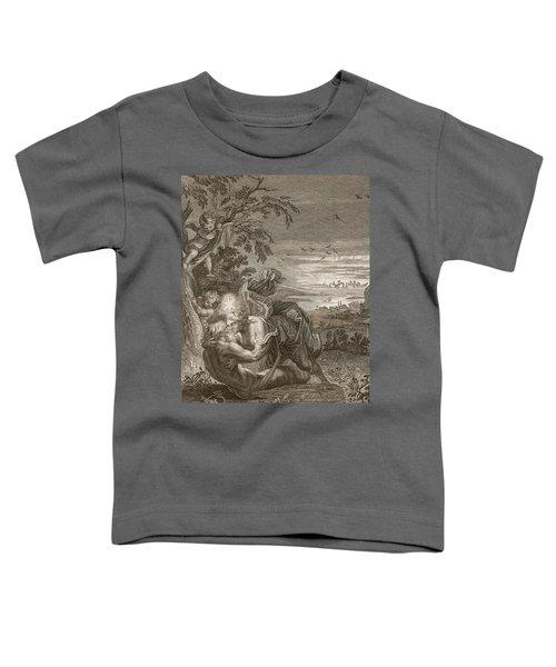 Tithonus, Auroras Husband, Turned Into A Grasshopper Toddler T-Shirt by Bernard Picart