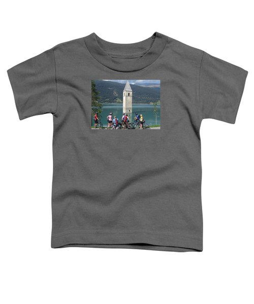 Toddler T-Shirt featuring the photograph Tower In The Lake by Travel Pics