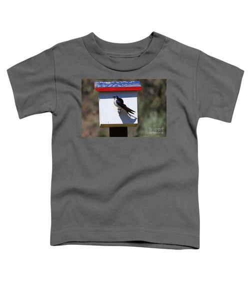 Tree Swallow Home Toddler T-Shirt by Mike  Dawson