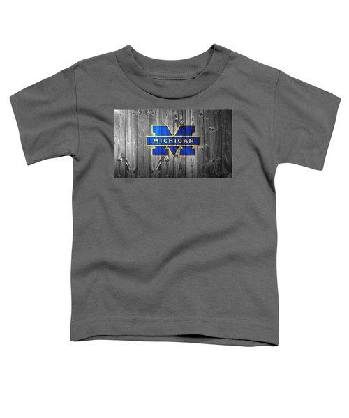 University Of Michigan Toddler T-Shirt by Dan Sproul