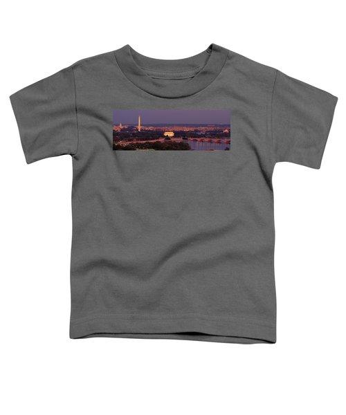 Usa, Washington Dc, Aerial, Night Toddler T-Shirt by Panoramic Images