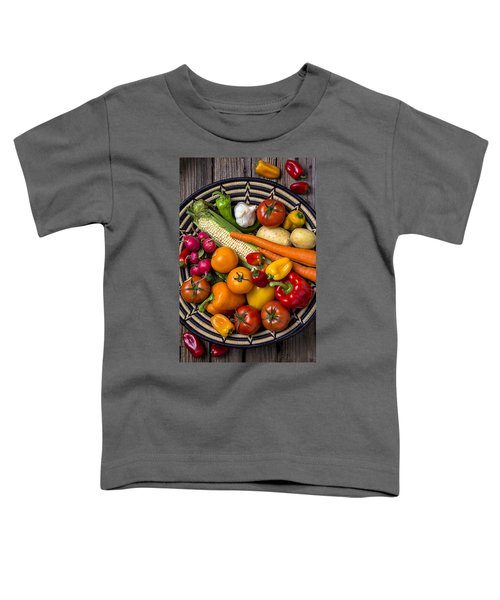 Vegetable Basket    Toddler T-Shirt by Garry Gay