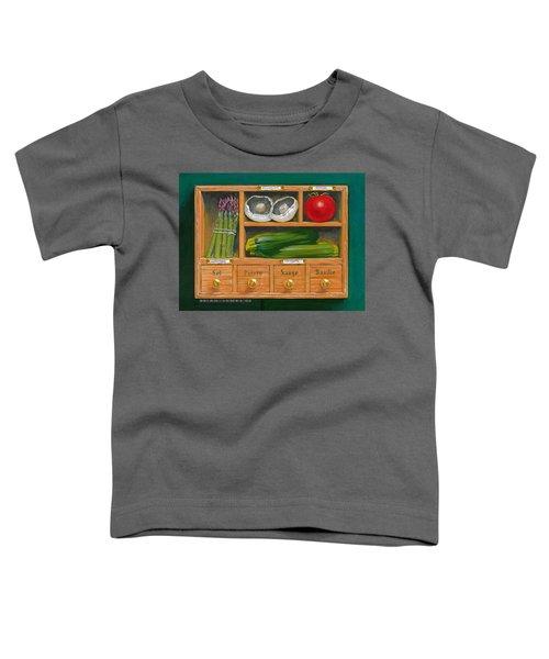 Vegetable Shelf Toddler T-Shirt by Brian James