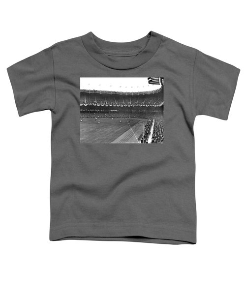 View Of Yankee Stadium Toddler T-Shirt by Underwood Archives