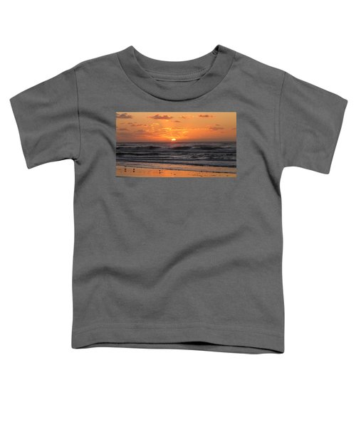 Wildwood Beach Here Comes The Sun Toddler T-Shirt by David Dehner