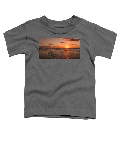 Wildwood Beach Sunrise II Toddler T-Shirt by David Dehner