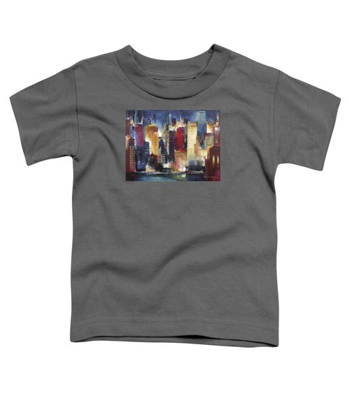 Windy City Nights Toddler T-Shirt by Kathleen Patrick