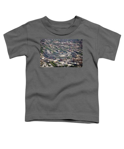 Wrigley Field - Home Of The Chicago Cubs Toddler T-Shirt by Adam Romanowicz