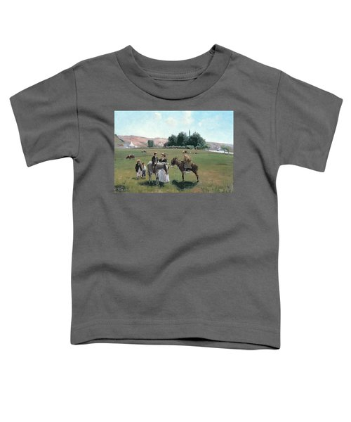 Donkey Ride Toddler T-Shirt by Camille Pissarro