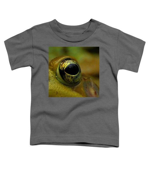 Eye Of Frog Toddler T-Shirt by Paul Ward