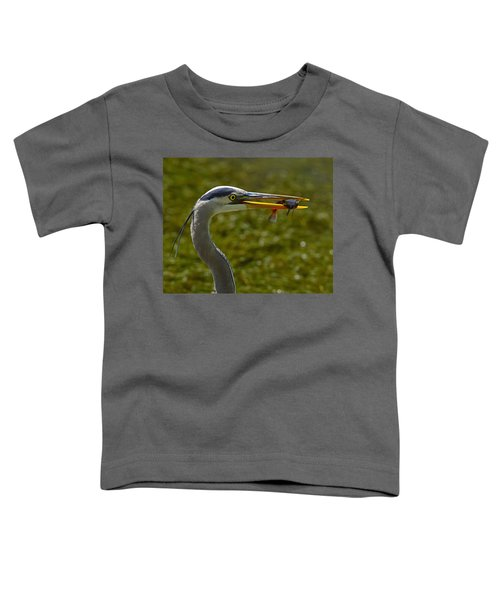 Fishing For A Living Toddler T-Shirt by Tony Beck