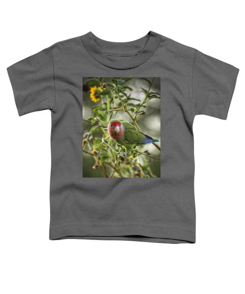Lovely Little Lovebird Toddler T-Shirt by Saija  Lehtonen