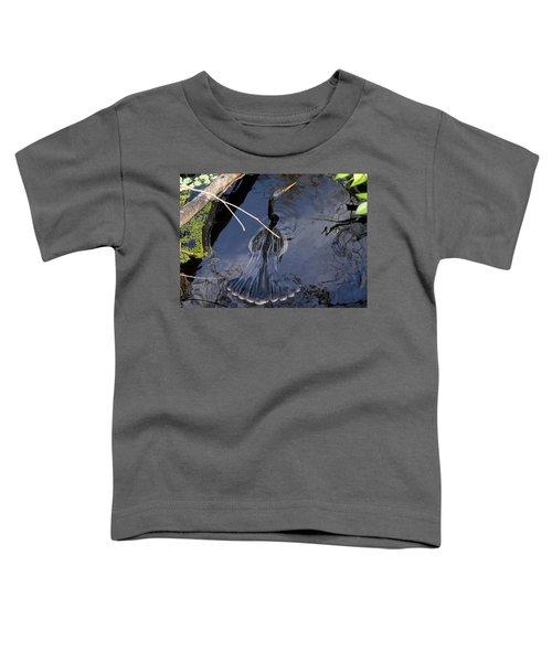 Swimming Bird Toddler T-Shirt by David Lee Thompson