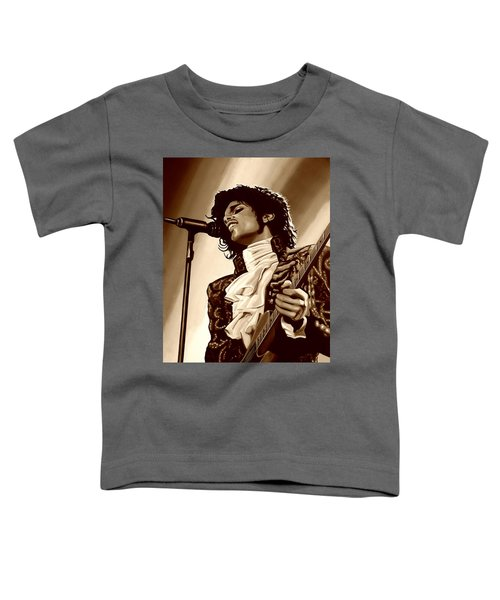 Prince The Artist Toddler T-Shirt by Paul Meijering