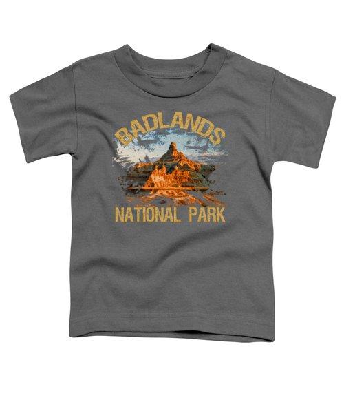 Badlands National Park Toddler T-Shirt by David G Paul