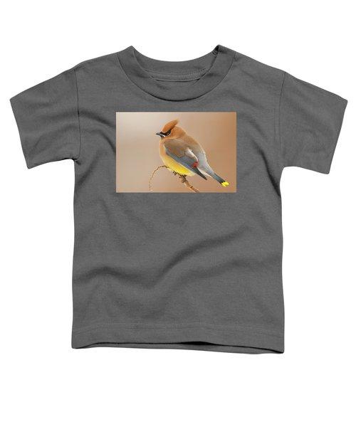 Cedar Wax Wing Toddler T-Shirt by Carl Shaw