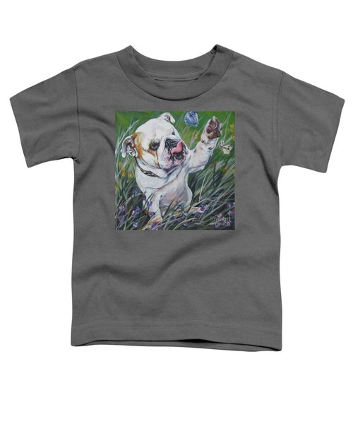 English Bulldog Toddler T-Shirt by Lee Ann Shepard