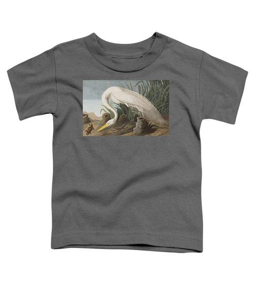 Great Egret Toddler T-Shirt by John James Audubon