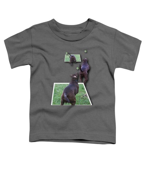 Keep Your Eye On The Ball Toddler T-Shirt by Roger Wedegis