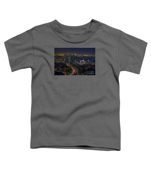 Los Angeles Sunrise Toddler T-Shirt by Art K