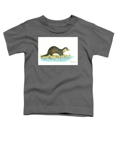 Otter Toddler T-Shirt by Juan Bosco