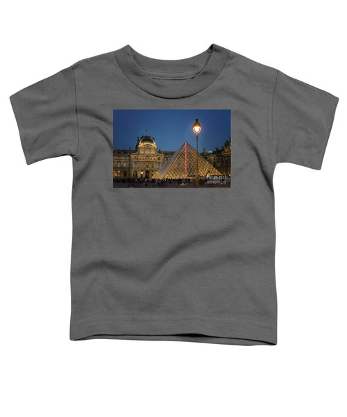 Louvre Museum At Twilight Toddler T-Shirt by Juli Scalzi