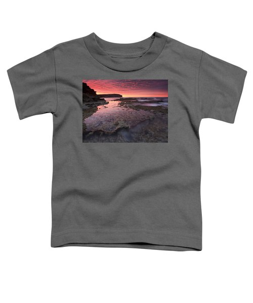 Red Sky At Morning Toddler T-Shirt by Mike  Dawson