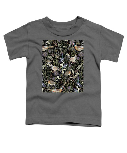 Woodland Edge Birds Toddler T-Shirt by Jacqueline Colley